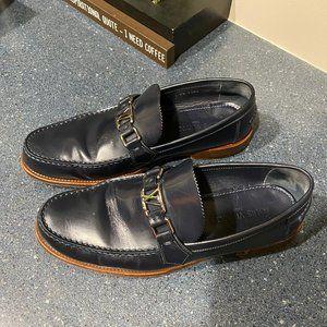 Men's LV Major Loafers (Blue, Leather)